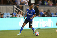 SAN JOSE, CA - AUGUST 17: Marcos Lopez #27 of the San Jose Earthquakes before a game between Minnesota United FC and San Jose Earthquakes at PayPal Park on August 17, 2021 in San Jose, California.