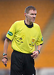 St Johnstone v Motherwell......27.10.13      SPFL<br /> Referee Calum Murray<br /> Picture by Graeme Hart.<br /> Copyright Perthshire Picture Agency<br /> Tel: 01738 623350  Mobile: 07990 594431