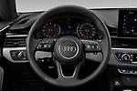 Car pictures of steering wheel view of a 2021 Audi A5-Sportback Design 5 Door Hatchback Steering Wheel