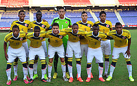 BARRANQUILLA- COLOMBIA, 22-10-2014.  La Selección Colombia Sub-20 venció 2-1 a Perú  durante la final de la Copa 90 Años Liga de Fútbol del Atlántico Sub-20 en el estadio Metropolitano Roberto Meléndez de Barranquilla ./ Sub-20 Team of Colombia defeated to Peru by score of 2-1  in the final match of the Cup 90 years of Soccer League of Atlentico Sub-20 played at Roberto Melendez stadium in Barranquilla city. Photos: VizzorImage / Alfonso Cervantes / Str.