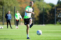 Mike van der Hoorn in action during the Swansea City Training at The Fairwood Training Ground in Swansea, Wales, UK. Wednesday 18 September 2019