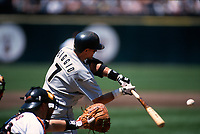 SAN FRANCISCO, CA:  Craig Biggio of the Houston Astros bats against the San Francisco Giants during a game at Candlestick Park in San Francisco, California in 1995. (Photo by Brad Mangin)