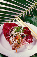 Close up of prepared food at the Cuisines of the Sun food festival at the Maunalani Bay Resort on the Big Island in July 2001