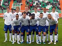 Soccer, UEFA U-17.France Vs. England.STAND - JOHN LUNDSTRAM, SAMUEL MAGRI, JORDAN PICKFORD, NICHOLAS POWELL, JORDAN COUSINS, ADAM JACKSON. DOWN - NATHAN REDMOND, ALEX HENSHALL, BLAIR TURGOTT, BRADLEY SMITH, HALLAM HOPE.Indjija, 03.05.2011..foto: Srdjan Stevanovic