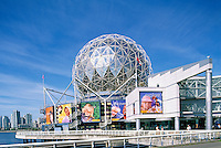 Vancouver, BC, British Columbia, Canada - Telus World of Science (aka Science World) at False Creek - Prior to Renovation in 2012
