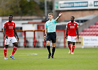 10th October 2020; The County Ground, Swindon, Wiltshire, England; English Football League One; Swindon Town versus AFC Wimbledon; Referee Will Finnie