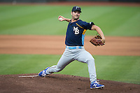 Myrtle Beach Pelicans starting pitcher Jake Stinnett (21) in action against the Winston-Salem Dash at BB&T Ballpark on May 2, 2016 in Winston-Salem, North Carolina.  The Pelicans defeated the Dash 3-2 in 11 innings.  (Brian Westerholt/Four Seam Images)