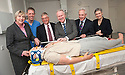 Scottish Health Secretary Alex Neil (3rd right) is joined by .Fiona McKenzie, Dr Michael Moneypenny, Alex Linkston, Malcolm Wright and Lindsay burley to view the new Scottish Clinical Simulation Centre. Based at Forth Valley Royal Hospital, the centre allows NHS staff and students from across the country to improve their skills by practicing on life-like hi-tech mannequins in simulated operating theatres.