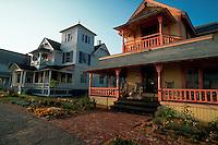 houses in Ocean Park section of Oak Bluffs. Martha's Vineyard, Massachusetts.
