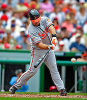 24 May 2009: Baltimore Orioles' third baseman Ty Wigginton in action against the Washington Nationals at Nationals Park in Washington, DC. The Nationals rallied to defeat the Orioles 8-5 and salvage a win in their interleague series. Mandatory Credit: Ed Wolfstein Photo