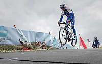 Fernando Gaviria (COL/Quick Step Floors) jumping at the Tom Boonen farewell race/criterium 'Tom Says Thanks!' in Mol/Belgium