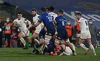6 March 2021; Ulster's James Hume on the attack during  the Guinness PRO14 match between Ulster and Leinster at Kingspan Stadium in Belfast. Photo by John Dickson/Dicksondigital