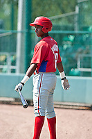 Maikel Franco of the Gulf Coast League Phillies during the game at the ESPN Wide World of Sports Complex in Orlando, Florida July 10 2010. Photo By Scott Jontes/Four Seam Images