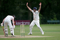 J Ellis-Grewal of Wanstead appeals for a wicket during Wanstead and Snaresbrook CC (fielding) vs Brentwood CC, Hamro Foundation Essex League Cricket at Overton Drive on 19th June 2021