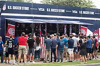 NASHVILLE, TN - SEPTEMBER 5: Visa Fan StudioShop by U.S. Soccer Fan Studio in FanHQ at Nissan Stadium on September 5, 2021 in Nashville, Tennessee.