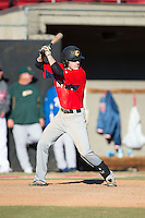 Brandon Fite (32) of Nation Ford High School in Fort Mill, South Carolina playing for the Boston Red Sox scout team at the South Atlantic Border Battle at Doak Field on November 2, 2014.  (Brian Westerholt/Four Seam Images)