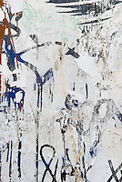 Wall with layers of graffiti on the Lower East Side, New York City, New York State, USA