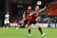 Steve Cook of Bournemouth (R) in action during the Sky Bet Championship match between Bournemouth and Swansea City at the Viatlity Stadium, Bournemouth, England, UK. Tuesday 16 March 2021