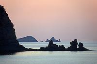 Inseln beim Torre d'en Rovira, Ibiza, Balearen, Spanien