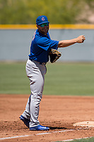 Chicago Cubs first baseman Cam Balego (9) during an Extended Spring Training game against the Colorado Rockies at Sloan Park on April 17, 2018 in Mesa, Arizona. (Zachary Lucy/Four Seam Images)