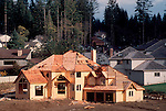 Bellevue, Washington, New single family home construction, a housing development rises in the Seattle area, Pacific Northwest, .