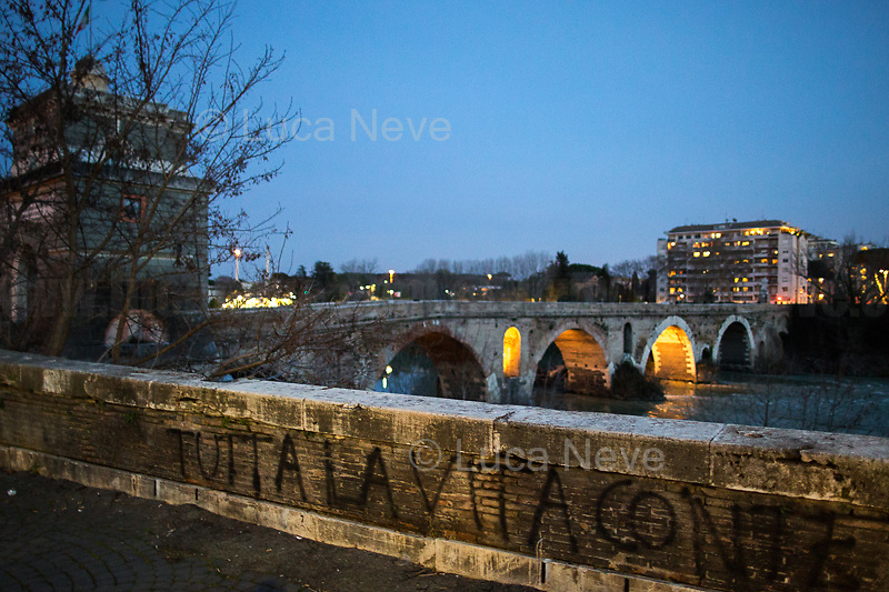 Ponte Milvio (it borders with Olympic Village).<br />