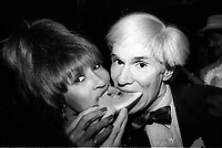 Andy Warhol and Tina Turner 1981<br /> Photo by Adam Scull/PHOTOlink