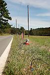 Seismic testing on roadside, Cogan Station, PA