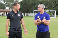 Orlando, FL - Friday Oct. 14, 2016:   Patryk Seppelt-Gorajewski speaks to a candidate during a US Soccer Coaching Clinic in Orlando, Florida.