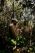 Maraca Island, Roraima, Brazil. Scientist from the RGS and INPA carrying out an ecological survey.