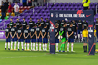 ORLANDO, FL - JANUARY 31: USMNT starting XI prior to a game between Trinidad and Tobago and USMNT at Exploria stadium on January 31, 2021 in Orlando, Florida.