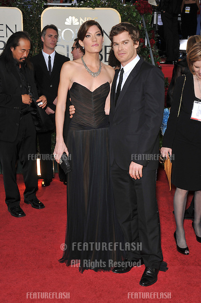 """""""Dexter"""" stars Michael C. Hall & new wife Jennifer Carpenter at the 66th Annual Golden Globe Awards at the Beverly Hilton Hotel..January 11, 2009 Beverly Hills, CA.Picture: Paul Smith / Featureflash"""