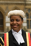 Judge Indira Demeritte-Francis, who sits at the Court of Appeal of the Commonwealth of the Bahamas.  Lord Chancellors Breakfast takes place annually in October the start of the Legal Year is marked by a procession know as the Judges Walk. From Westminster Abbey to the  Houses of Parliament, London England 2006.