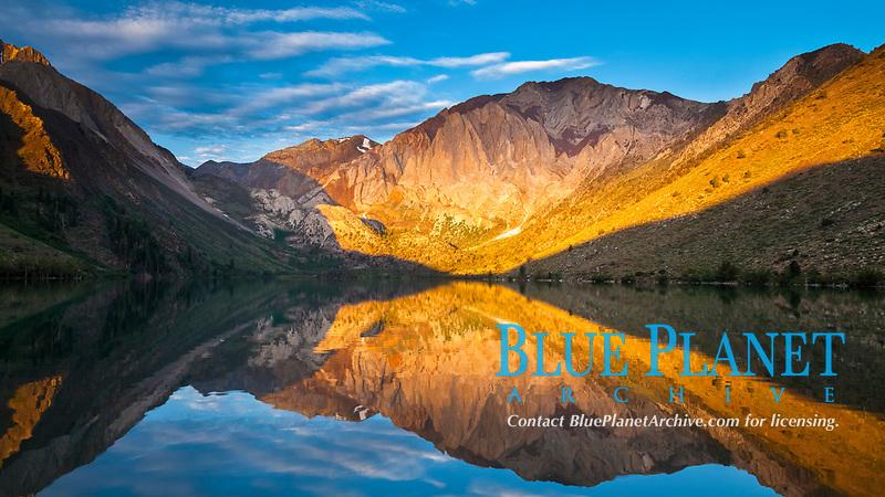 Convict Lake sunrise reflection, Sherwin Range of Sierra Nevada, Mono County, California, USA