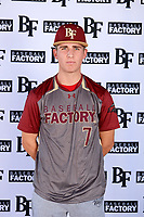 Cullen Moes (7) of St. Bonaventure High School in Ventura, California during the Baseball Factory All-America Pre-Season Tournament, powered by Under Armour, on January 12, 2018 at Sloan Park Complex in Mesa, Arizona.  (Mike Janes/Four Seam Images)