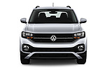 Car photography straight front view of a 2019 Volkswagen T-Cross Life 5 Door SUV Front View
