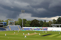 Dark clouds over the ground during Glamorgan CCC vs Essex CCC, Specsavers County Championship Division 2 Cricket at the SSE SWALEC Stadium on 23rd May 2016