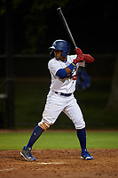 AZL Dodgers Lasorda Edwin Mateo (54) at bat during an Arizona League game against the AZL Athletics Green at Camelback Ranch on June 19, 2019 in Glendale, Arizona. AZL Dodgers Lasorda defeated AZL Athletics Green 9-5. (Zachary Lucy/Four Seam Images)
