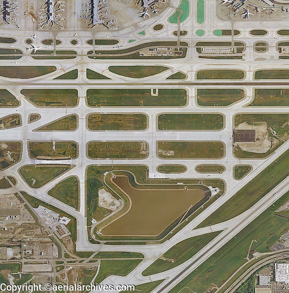 aerial map Chicago O'Hare International Airport, Chicago, Illinois
