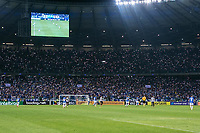 BELO HORIZONTE, MG, 11.07.2019: CRUZEIRO-ATLÉTICO-MG - Torcida do Cruzeiro faz a festa apos partida entre Cruzeiro x Atlético-MG válida pelo jogo de ida das quartas de final da Copa do Brasil 2019, no Estadio Mineirão em Belo Horizonte, MG, na noite desta quinta feira (11) (foto Giazi Cavalcante/Codigo19)