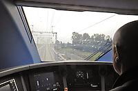 - Treviglio (Brescia), viaggio di prova sulla nuova linea Alta Velocità/Alta Capacità Treviglio-Brescia, parte integrante del Corridoio Europeo TENT-T <br /> <br /> - Treviglio (Brescia), test ride on the new line High Speed / High Capacity Treviglio-Brescia, an integral part of the European Corridor TENT-T