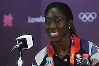 Anita Asante of GB attends the Team GB Women Press Conference at the Millenium Stadium, Cardiff, Wales - 27/07/12 - MANDATORY CREDIT: Gavin Ellis/SHEKICKS/TGSPHOTO - Self billing applies where appropriate - 0845 094 6026 - contact@tgsphoto.co.uk - NO UNPAID USE.