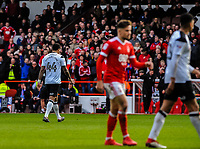 Derby County's midfielder Tom Huddlestone (44) sent off after recieving 2nd yellow card during the Sky Bet Championship match between Nottingham Forest and Derby County at the City Ground, Nottingham, England on 10 March 2018. Photo by Stephen Buckley / PRiME Media Images.