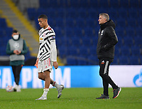 4th November 2020, Basaksehir Fatih Stadium, Istanbul, Turkey; UEFA Champions League football,  Basaksehir versus manchester United;  Coach Ole Gunnar Solskjaer and Mason Greenwood of Manchester United leave the field after their loss