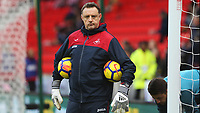 Swansea City goalkeeper coach Tony Roberts prior to kick off of the Premier League match between Stoke City and Swansea City at the bet365 Stadium, Stoke on Trent, England, UK. Saturday 02 December 2017