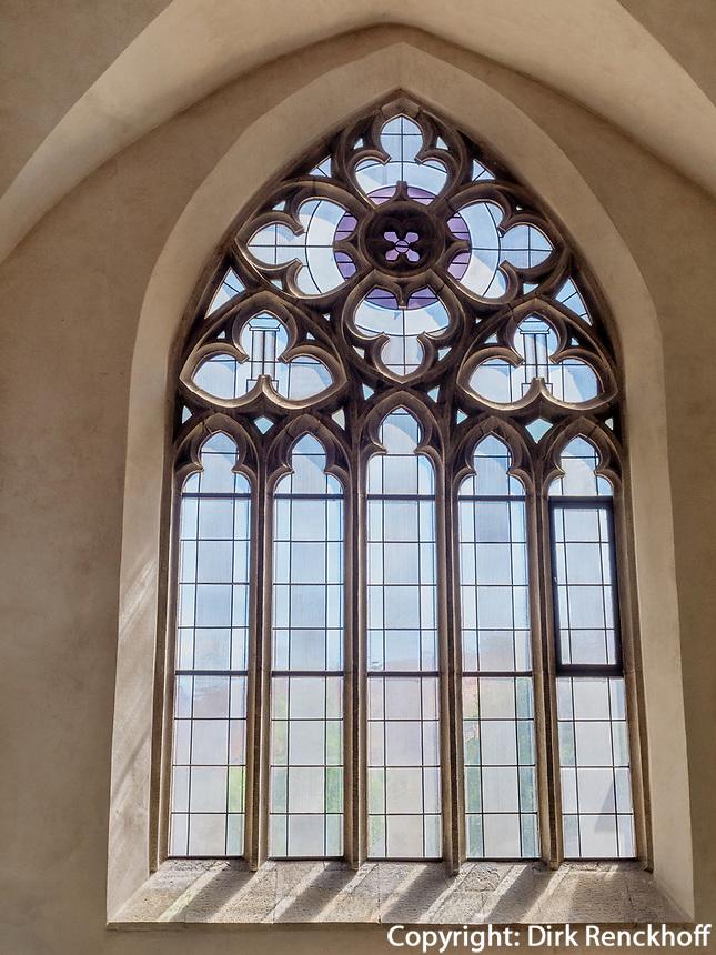 Maßwerk-Fenster im Mariendom, Hildesheim, Niedersachsen, Deutschland, Europa, UNESCO Weltkulturerbe<br /> traceried window, Cathedral of St. Mary Hildesheim, Lower Saxony, Germany, Europe, UNESCO Heritage Site