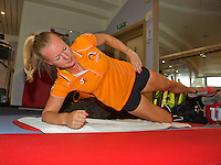 Moskou, Russia, Februari 4, 2016,  Fed Cup Russia-Netherlands,  Dutch team in the fitness,  Kiki Bertens<br /> Photo: Tennisimages/Henk Koster