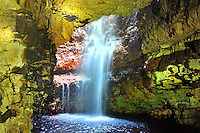 SC -  Prov.Sutherland - SANGO BAY <br /> Smoo Cave and underground waterfall  in the near vicinity of Durness<br /> <br /> Full size: 61,4 MB