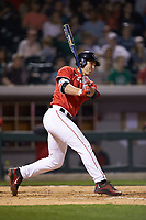Keegan McGovern (32) of the Georgia Bulldogs follows through on his swing against the Charlotte 49ers at BB&T Ballpark on March 8, 2016 in Charlotte, North Carolina. The 49ers defeated the Bulldogs 15-4. (Brian Westerholt/Four Seam Images)