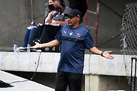 PIEDECUESTA- COLOMBIA, 24-07-2021: Real Santander y el Independiente Medellín en partido por la fecha 4 como parte de la Liga Femenina BetPlay DIMAYOR 2021 jugado en el estadio Villa Concha del municipio de Piedecuesta. / Real Santander and Independiente Medellin in match for the date 4  as part of Women's BetPlay DIMAYOR 2021 League, played at Villa Concha stadium in Piedecuesta. Photo: VizzorImage / Jaime Moreno / Contribuidor